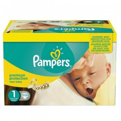 Pampers - Pack jumeaux 504 Couches New Baby Premium Protection taille 1 sur Les Couches