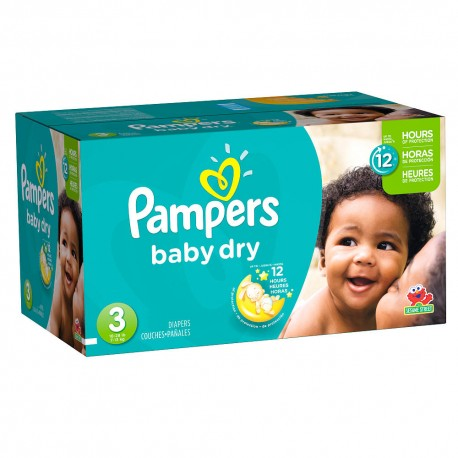 Pampers - Maxi giga pack 304 Couches Baby Dry taille 3 sur Les Couches