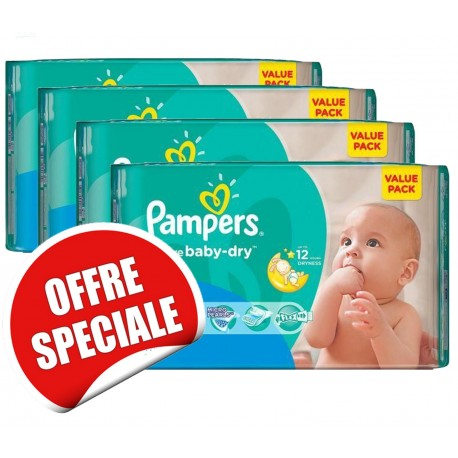 Pampers - Pack jumeaux 748 Couches Active Baby Dry taille 3 sur Les Couches