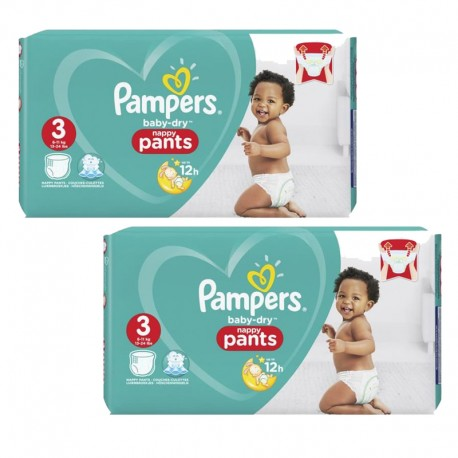 Pampers - Mega pack 182 Couches Baby Dry Pants taille 3 sur Les Couches