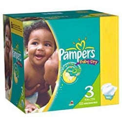 Pampers - Maxi giga pack 380 Couches Baby Dry taille 3