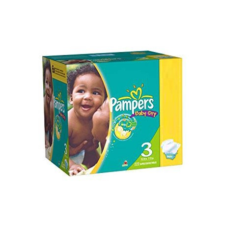 Pampers - Maxi giga pack 380 Couches Baby Dry taille 3 sur Les Couches