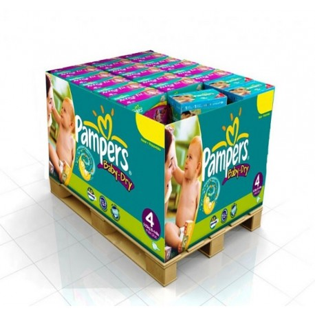 Pampers - Pack jumeaux 858 Couches Baby Dry taille 4 sur Les Couches