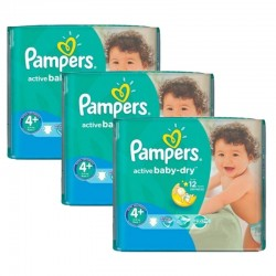 Pampers - Pack jumeaux 720 Couches Active Baby Dry taille 4+ sur Les Couches