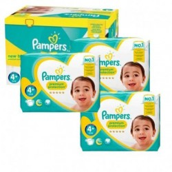 Pampers - Maxi giga pack 336 Couches New Baby Premium Protection taille 4+ sur Les Couches