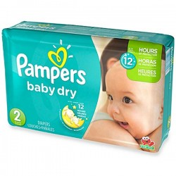 Pampers - 37 Couches Baby Dry taille 2 sur Les Couches
