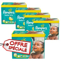 Pampers - Pack 56 Couches Baby Dry taille 5+