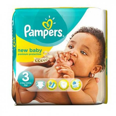 Pampers - Pack 35 Couches New Baby Premium Protection taille 3 sur Les Couches