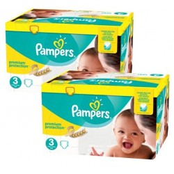 Pampers - Mega pack 105 Couches New Baby Premium Protection taille 3 sur Les Couches