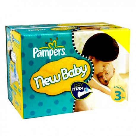 Pampers - Giga pack 210 Couches New Baby Premium Protection taille 3 sur Les Couches