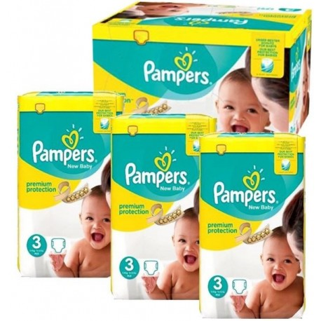 Pampers - Giga pack 280 Couches New Baby Premium Protection taille 3 sur Les Couches
