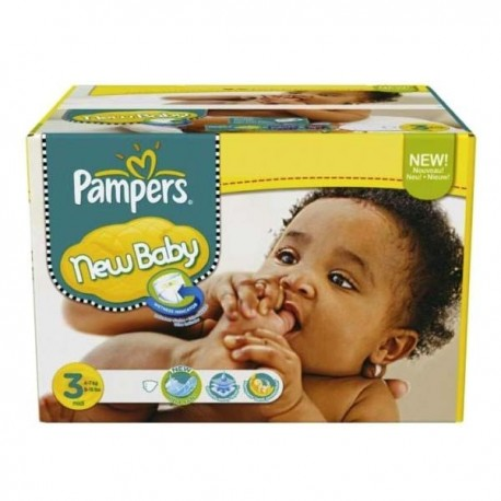 Pampers - Maxi giga pack 350 Couches New Baby Premium Protection taille 3 sur Les Couches