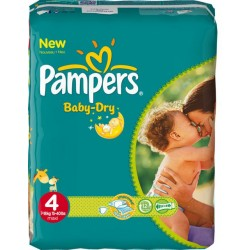 Pampers - Giga pack 238 Couches Baby Dry taille 4 sur Les Couches