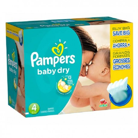 Pampers - Giga pack 272 Couches Baby Dry taille 4 sur Les Couches