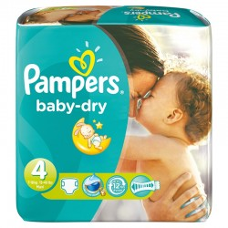 Pampers - Maxi mega pack 442 Couches Baby Dry taille 4 sur Les Couches
