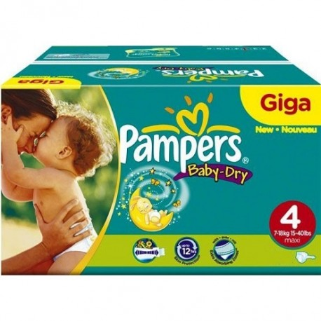 Pampers - Pack jumeaux 612 Couches Baby Dry taille 4 sur Les Couches