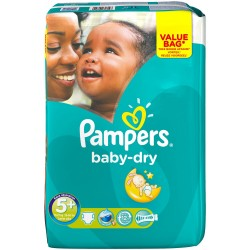 Pampers - Pack 22 Couches Baby Dry taille 5+