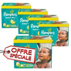 Pampers - Pack 88 Couches Baby Dry taille 5+