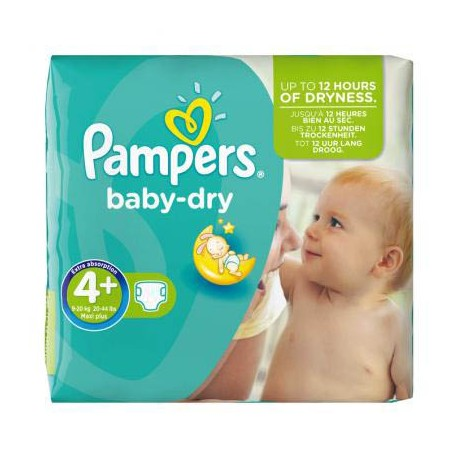 Pampers - Pack 80 Couches Baby Dry taille 4+ sur Les Couches