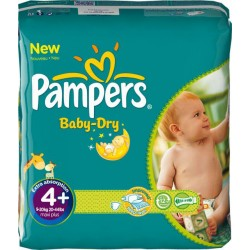 Pampers - Pack jumeaux 560 Couches Baby Dry taille 4+ sur Les Couches