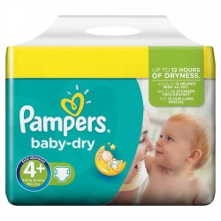 Pampers - Pack jumeaux 800 Couches Baby Dry taille 4+