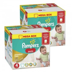 Pampers - Mega pack 132 Couches Premium Care Pants taille 4 sur Les Couches