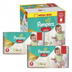 Pampers - Mega pack 198 Couches Premium Care Pants taille 4 sur Les Couches
