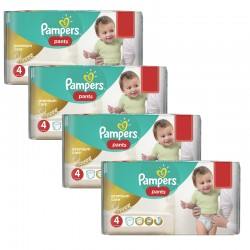 Pampers - Maxi giga pack 330 Couches Premium Care Pants taille 4 sur Les Couches