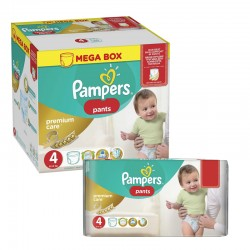 Pampers - Maxi giga pack 396 Couches Premium Care Pants taille 4 sur Les Couches