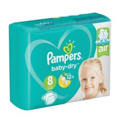 Pampers - Pack 20 Couches Baby Dry taille 8 sur Les Couches