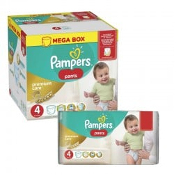 Pampers - Pack jumeaux 528 Couches Premium Care Pants taille 4 sur Les Couches