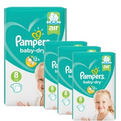 Pampers - Pack 80 Couches Baby Dry taille 8 sur Les Couches