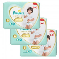 Pampers - Mega pack 108 Couches Premium Care Pants taille 6 sur Les Couches