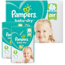 Pampers - Mega pack 120 Couches Baby Dry taille 8 sur Les Couches