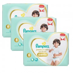 Pampers - Mega pack 144 Couches Premium Care Pants taille 6