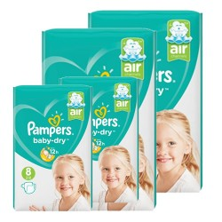 Pampers - Mega pack 140 Couches Baby Dry taille 8 sur Les Couches