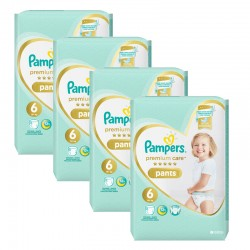 Pampers - Giga pack 216 Couches Premium Care Pants taille 6 sur Les Couches