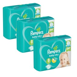 Pampers - Mega pack 180 Couches Baby Dry taille 8 sur Les Couches