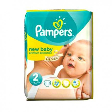 Pampers - Pack 80 Couches New Baby taille 2 sur Les Couches