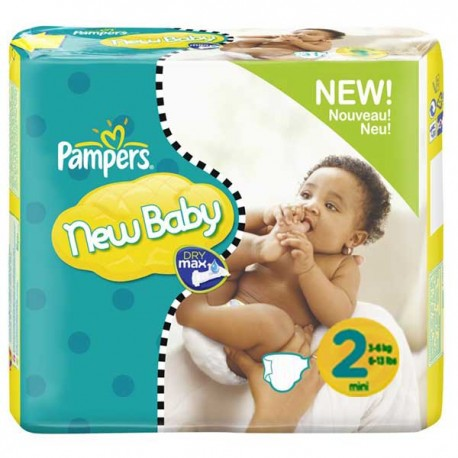 Pampers - Maxi mega pack 400 Couches New Baby taille 2 sur Les Couches