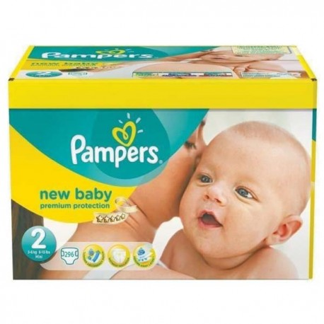 Pampers - Maxi mega pack 480 Couches New Baby taille 2 sur Les Couches
