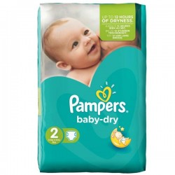 Pampers - 48 Couches Baby Dry taille 2 sur Les Couches