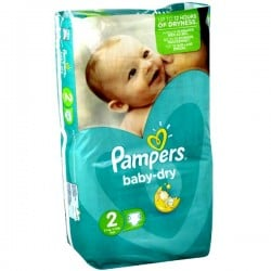 Pampers - 35 Couches Baby Dry taille 2 sur Les Couches