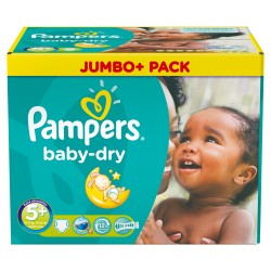 Pampers - Mega pack 136 Couches Baby Dry taille 5+ sur Les Couches