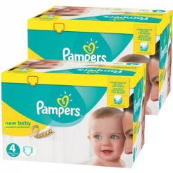 Pampers - Mega pack 192 Couches New Baby Premium Protection taille 4 sur Les Couches