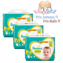 Pampers - Pack jumeaux 512 Couches New Baby Premium Protection taille 4