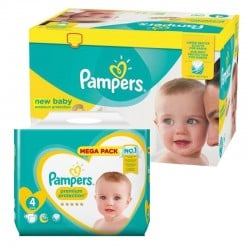 Pampers - Pack jumeaux 640 Couches New Baby Premium Protection taille 4 sur Les Couches