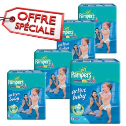 Pampers - Mega pack 168 Couches Active Baby Dry taille 6 sur Les Couches
