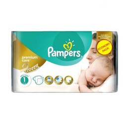 Pampers - Pack 22 Couches New Baby Premium Care taille 1