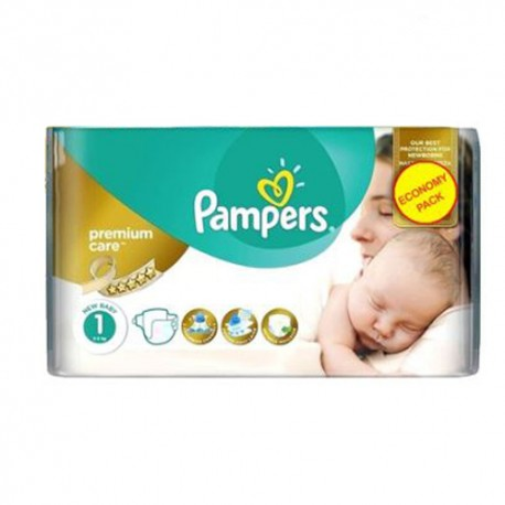 Pampers - Pack 22 Couches New Baby Premium Care taille 1 sur Les Couches
